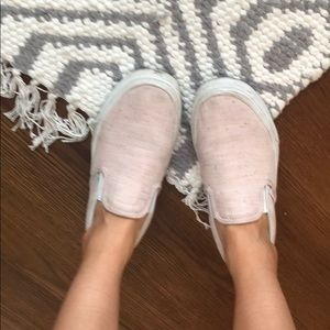 Baby Pink Vans classic slip on shoes